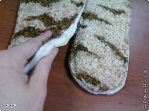 Мастер-класс,  Шитьё, : Домашние тапочки для себя и для гостей. Кожа, Мех, Ткань . Фото 9