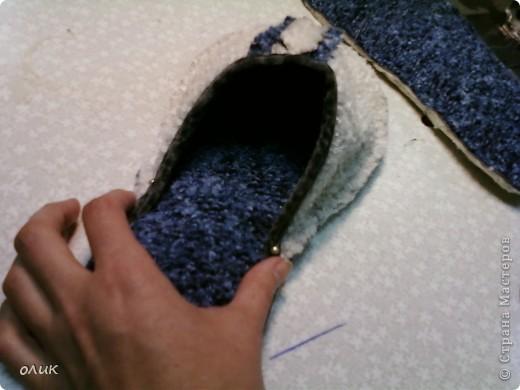 Мастер-класс,  Шитьё, : Домашние тапочки для себя и для гостей. Кожа, Мех, Ткань . Фото 10
