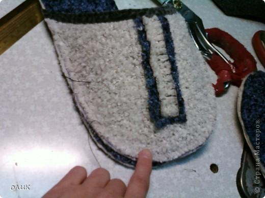 Мастер-класс,  Шитьё, : Домашние тапочки для себя и для гостей. Кожа, Мех, Ткань . Фото 11