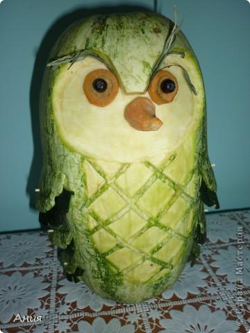 Поделки из овощей сова