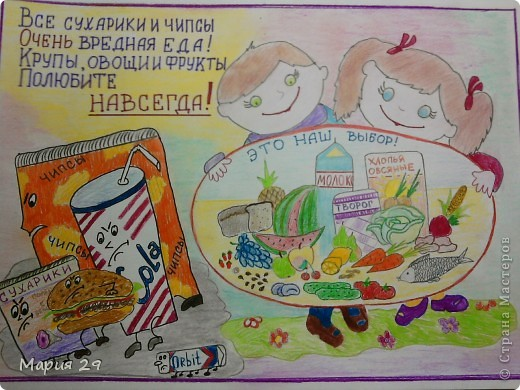 плакат на тему здоровое питание на английском