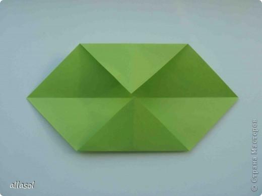 Мастер-класс,  Оригами, : Гофрированный листок клена. Бумага Деньучителя, . Фото 4