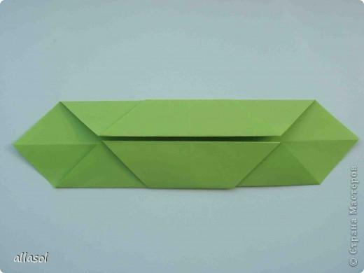 Мастер-класс,  Оригами, : Гофрированный листок клена. Бумага Деньучителя, . Фото 5