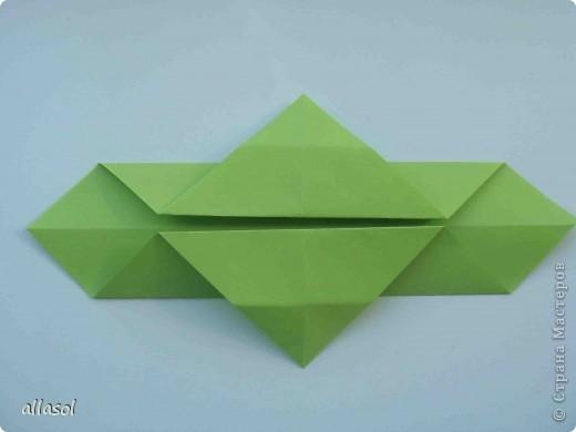 Мастер-класс,  Оригами, : Гофрированный листок клена. Бумага Деньучителя, . Фото 6