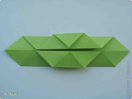 Мастер-класс,  Оригами, : Гофрированный листок клена. Бумага Деньучителя, . Фото 7