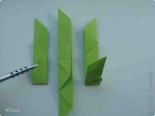 Мастер-класс,  Оригами, : Гофрированный листок клена. Бумага Деньучителя, . Фото 10