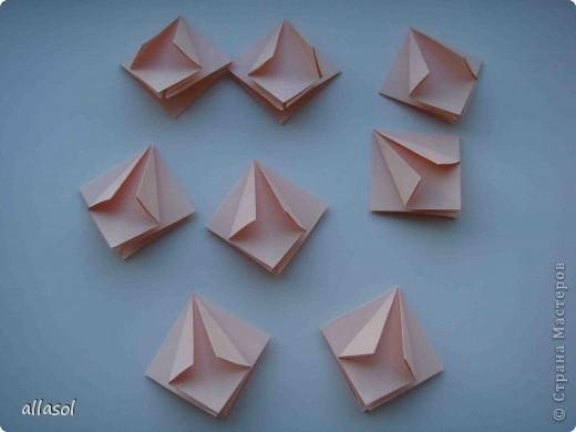Мастер-класс Оригами: Георгины Бумага День учителя. Фото 4