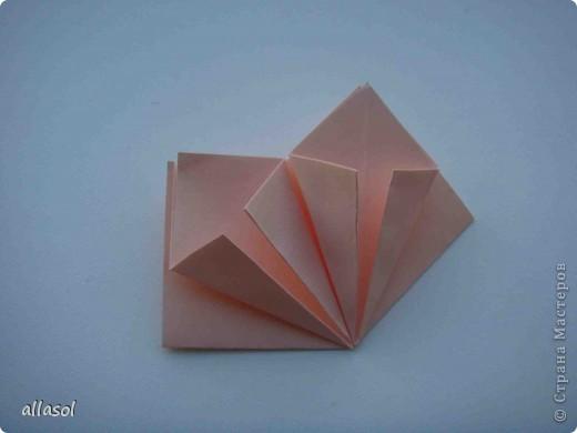 Мастер-класс Оригами: Георгины Бумага День учителя. Фото 5