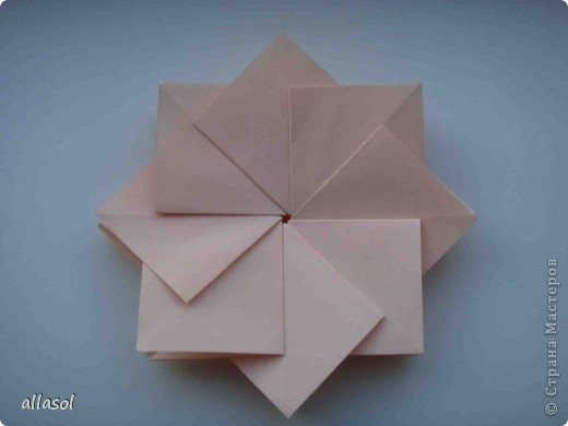 Мастер-класс Оригами: Георгины Бумага День учителя. Фото 7