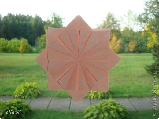 Мастер-класс Оригами: Георгины Бумага День учителя. Фото 8