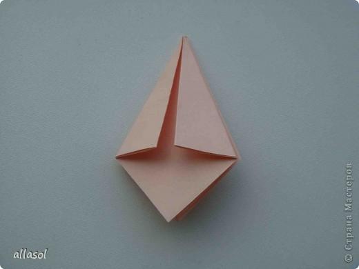Мастер-класс Оригами: Георгины Бумага День учителя. Фото 9