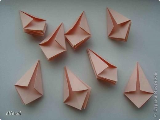 Мастер-класс Оригами: Георгины Бумага День учителя. Фото 10
