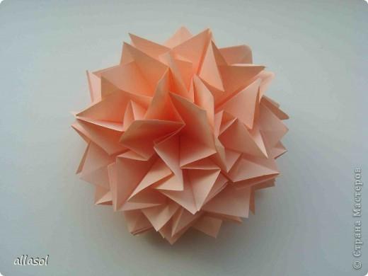 Мастер-класс Оригами: Георгины Бумага День учителя. Фото 17