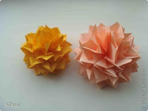 Мастер-класс Оригами: Георгины Бумага День учителя. Фото 20