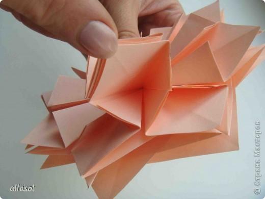 Мастер-класс Оригами: Георгины Бумага День учителя. Фото 11