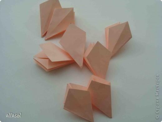 Мастер-класс Оригами: Георгины Бумага День учителя. Фото 15