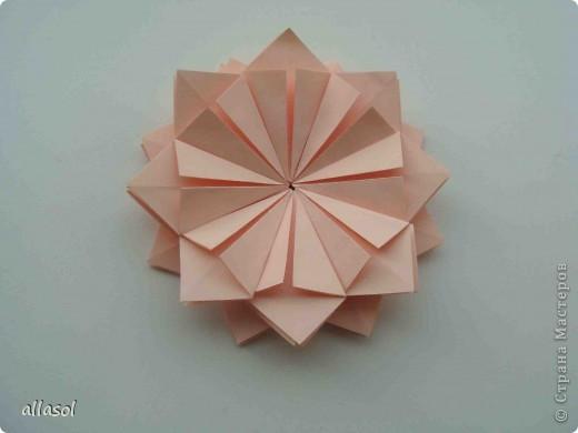 Мастер-класс Оригами: Георгины Бумага День учителя. Фото 12