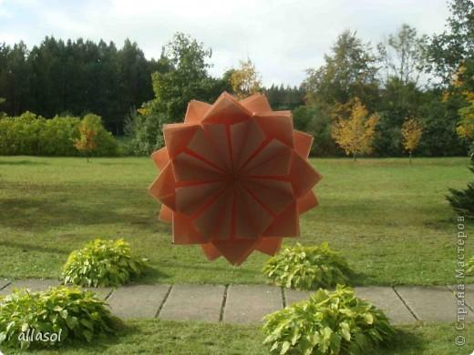 Мастер-класс Оригами: Георгины Бумага День учителя. Фото 13