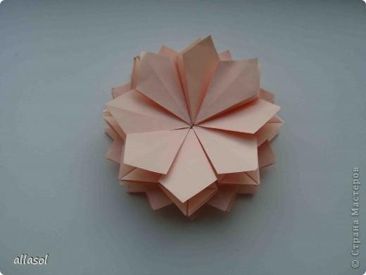 Мастер-класс Оригами: Георгины Бумага День учителя. Фото 16