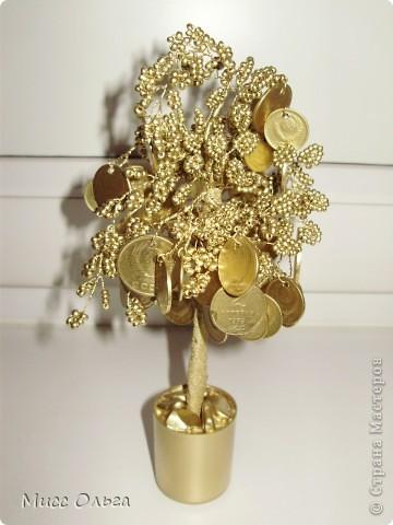 Поделка, изделие, Фэн-шуй Бисероплетение: Денежное дерево.  Азалия