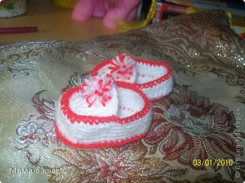 Вязаные пинетки для беби бона 36