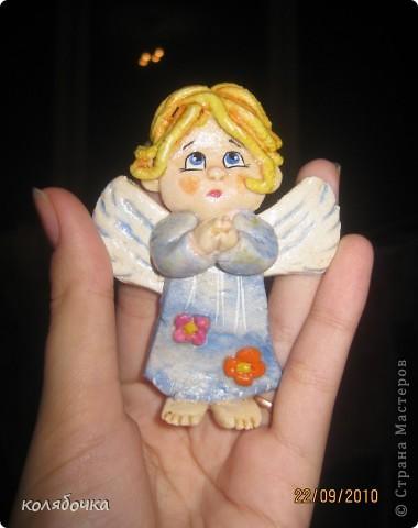 Поделки из соленого теста ангелочки инструкция