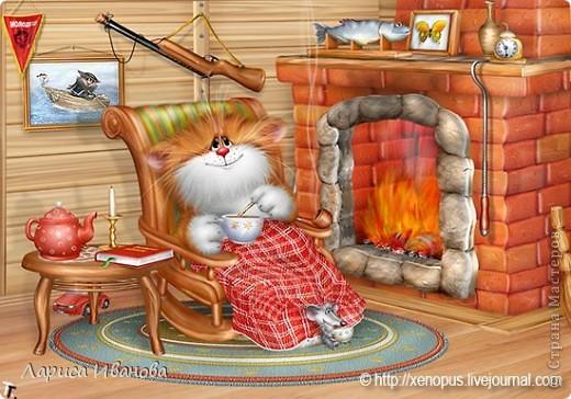 Картина, панно Лепка, Роспись: Кот в отпуске Акварель, Гуашь, Тесто соленое 23 февраля, День рождения. Фото 7