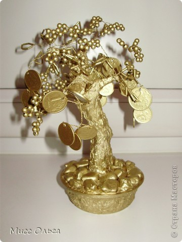 Поделка, изделие, Фэн-шуй: Денежное дерево 2 . Бисер.  Фото 2.