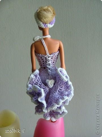 платье крючком для куклы барби