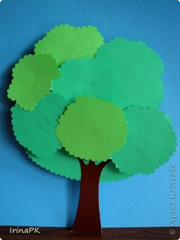 Деревья с объемной кроной.