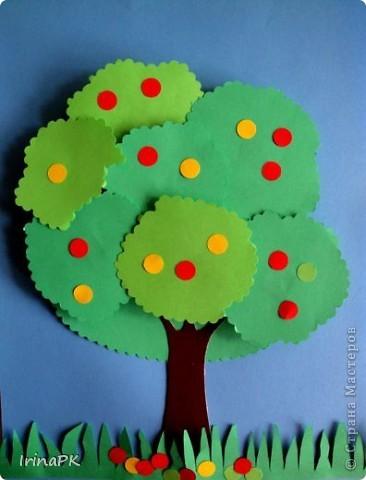 Как сделать из цветной бумаги деревья