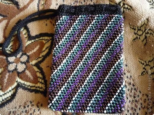 Украшение Вязание крючком: Чехлы из бисера для телефона Бисер, Нитки.