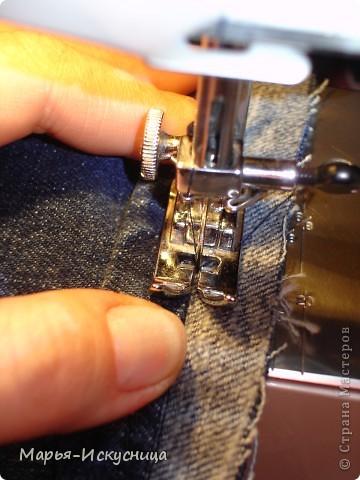 Гардероб, Мастер-класс,  Шитьё, : МК Как подшить джинсы. Ткань . Фото 3