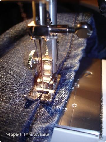 Гардероб, Мастер-класс,  Шитьё, : МК Как подшить джинсы. Ткань . Фото 5