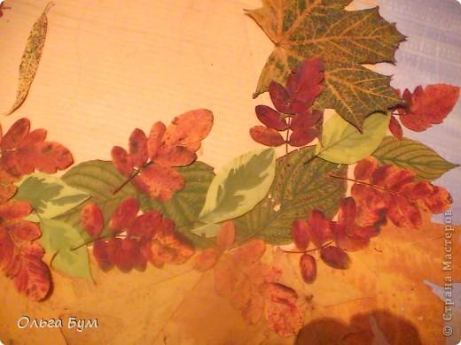 Внеклассная работа Аппликация: Красавица-осень.  Материал природный.