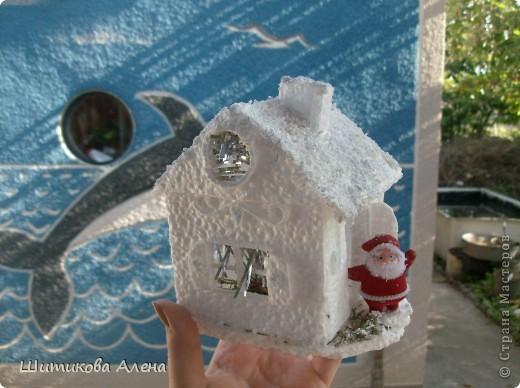 Как сделать поделку домик из пенопласта