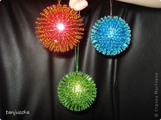 Мастер-класс: Ёлочные игрушки  Пайетки, Пенопласт Новый год. Фото 3