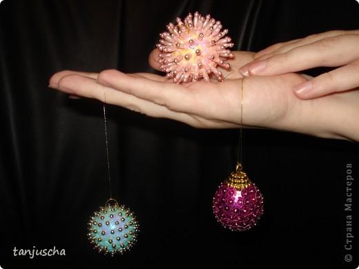 Мастер-класс: Ёлочные игрушки  Пайетки, Пенопласт Новый год. Фото 6