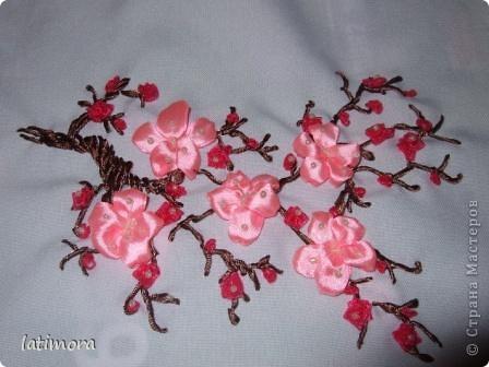 Рхема вышивки Ветка цветущего