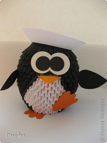 пингвин из модульного оригами схема сборки