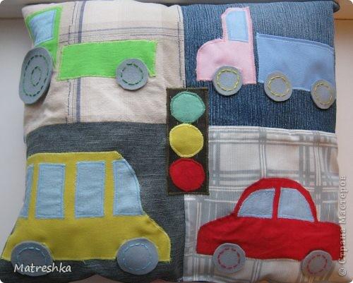 Игрушка, Раннее развитие, Шитьё, : Подушка в машину . Фото 1
