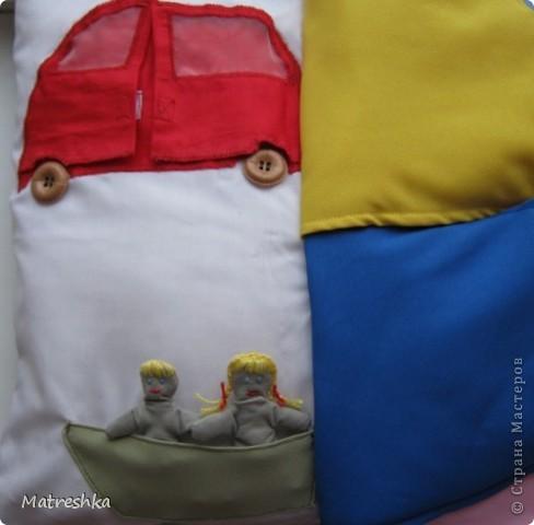 Игрушка, Раннее развитие, Шитьё, : Подушка в машину . Фото 5