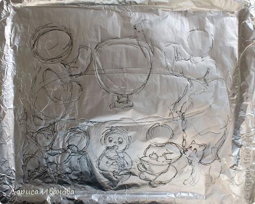 Вот такая веселая и дружная семья у моей подруги Марийки Андриенко))). Предлагаю всем посмотреть, как я делала эту работу.... Фото 4