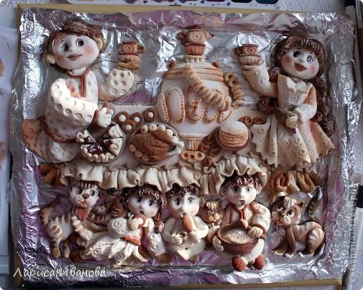Вот такая веселая и дружная семья у моей подруги Марийки Андриенко))). Предлагаю всем посмотреть, как я делала эту работу.... Фото 45