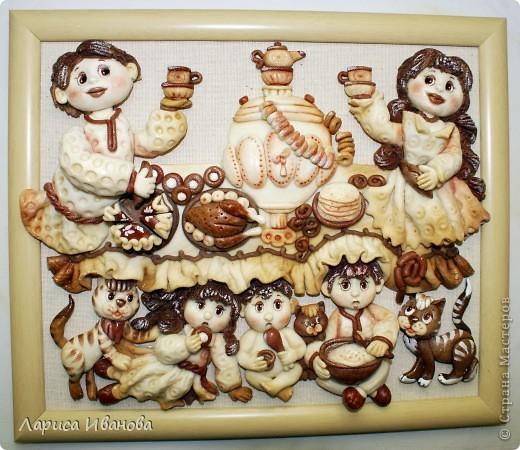 Вот такая веселая и дружная семья у моей подруги Марийки Андриенко))). Предлагаю всем посмотреть, как я делала эту работу.... Фото 2