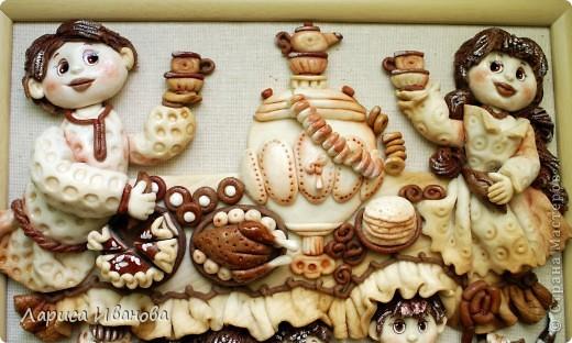 Вот такая веселая и дружная семья у моей подруги Марийки Андриенко))). Предлагаю всем посмотреть, как я делала эту работу.... Фото 48