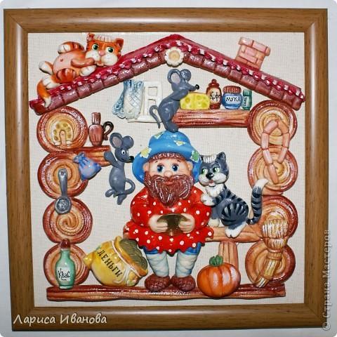 Картина, панно,  Лепка, Роспись, : Работы в детский центр Акварель, Гуашь, Тесто соленое Новый год, . Фото 11