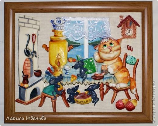 Картина, панно,  Лепка, Роспись, : Работы в детский центр Акварель, Гуашь, Тесто соленое Новый год, . Фото 12