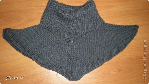 Вязание спицами: манишка