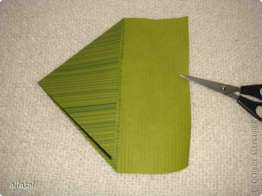 Мастер-класс, Открытка Оригами: Новогодняя открытка. Бумага Новый год, Рождество. Фото 5